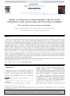 Scholarly article on topic 'Studies on interaction of ribonucleotides with zinc ferrite nanoparticles using spectroscopic and microscopic techniques'