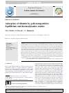 Scholarly article on topic 'Adsorption of albumin by gold nanoparticles: Equilibrium and thermodynamics studies'