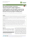 Scholarly article on topic 'Microbial population dynamics during long-term sludge adaptation of thermophilic and mesophilic sequencing batch digesters treating sewage fine sieved fraction at varying organic loading rates'