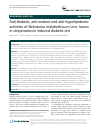 Scholarly article on topic 'Anti-diabetic, anti-oxidant and anti-hyperlipidemic activities of Melastoma malabathricum Linn. leaves in streptozotocin induced diabetic rats'