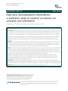 Scholarly article on topic 'High-dose benzodiazepine dependence: a qualitative study of patients' perception on cessation and withdrawal'