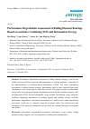 Scholarly article on topic 'Performance Degradation Assessment of Rolling Element Bearings Based on an Index Combining SVD and Information Exergy'