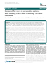 Scholarly article on topic 'Gender differences in personality patterns and smoking status after a smoking cessation treatment'