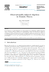 Scholarly article on topic 'Observationally-induced Algebras in Domain Theory'