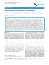Scholarly article on topic 'Biodiversity Conservation in the REDD'