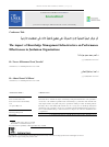 Scholarly article on topic 'The impact of Knowledge Management Infrastructure on Performance Effectiveness in Jordanian Organizations'