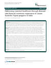 Scholarly article on topic 'Addressing maternal healthcare through demand side financial incentives: experience of Janani Suraksha Yojana program in India'