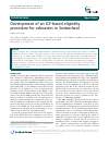 Scholarly article on topic 'Development of an ICF-based eligibility procedure for education in Switzerland'