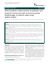 Scholarly article on topic 'Referral patterns and proximity to palliative care inpatient services by level of socio-economic disadvantage. A national study using spatial analysis'