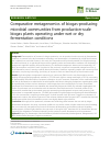 Scholarly article on topic 'Comparative metagenomics of biogas-producing microbial communities from production-scale biogas plants operating under wet or dry fermentation conditions'