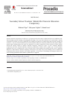 Scholarly article on topic 'Secondary School Teachers' Beliefs on Character Education Competency'