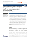 Scholarly article on topic 'Weather index insurance for managing drought risk in smallholder agriculture: lessons and policy implications for sub-Saharan Africa'