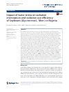 Scholarly article on topic 'Impact of water stress on radiation interception and radiation use efficiency of Soybeans (Glycine max L. Merr.) in Nigeria'