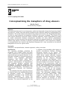 Scholarly article on topic 'Conceptualizing the metaphors of drug abusers'