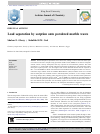 Scholarly article on topic 'Lead separation by sorption onto powdered marble waste'