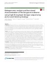 Scholarly article on topic 'Metagenomic analysis and functional characterization of the biogas microbiome using high throughput shotgun sequencing and a novel binning strategy'