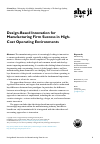 Scholarly article on topic 'Design-Based Innovation for Manufacturing Firm Success in High-Cost Operating Environments'