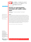 Scholarly article on topic 'Genetics of channelopathies associated with sudden cardiac death'