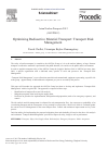 Scholarly article on topic 'Optimizing Radioactive Material Transport: Transport Risk Management'