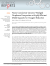 Scholarly article on topic 'Nano Conductive Ceramic Wedged Graphene Composites as Highly Efficient Metal Supports for Oxygen Reduction'