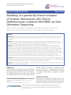 Scholarly article on topic 'Modelling of a genetically diverse evolution of Systemic Mastocytosis with Chronic Myelomonocytic Leukemia (SM-CMML) by Next Generation Sequencing'