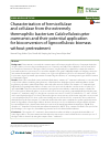 Scholarly article on topic 'Characterization of hemicellulase and cellulase from the extremely thermophilic bacterium Caldicellulosiruptor owensensis and their potential application for bioconversion of lignocellulosic biomass without pretreatment'