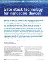 Scholarly article on topic 'Gate stack technology for nanoscale devices'