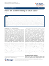 Scholarly article on topic 'Public art and the making of urban space'
