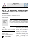 Scholarly article on topic 'Effect of fly ash and silica fume on compressive strength of self-compacting concrete under different curing conditions'