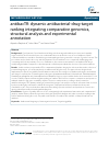Scholarly article on topic 'antibacTR: dynamic antibacterial-drug-target ranking integrating comparative genomics, structural analysis and experimental annotation'