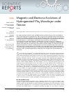 Scholarly article on topic 'Magnetic and Electronic Evolutions of Hydrogenated VTe2 Monolayer under Tension'