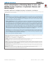 Scholarly article on topic 'Fecal Contamination of Drinking-Water in Low- and Middle-Income Countries: A Systematic Review and Meta-Analysis'