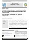 Scholarly article on topic 'Voltammetric determination of resorcinol on the surface of a glassy carbon electrode modified with multi-walled carbon nanotube'