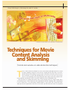Scholarly article on topic 'Techniques for movie content analysis and skimming: tutorial and overview on video abstraction techniques'