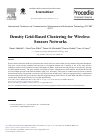 Scholarly article on topic 'Density Grid-based Clustering for Wireless Sensors Networks'
