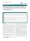 Scholarly article on topic 'Exploring the impact of mentoring functions on job satisfaction and organizational commitment of new staff nurses'