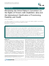 Scholarly article on topic 'Monitoring the United Nation's Convention on the Rights of Persons with Disabilities: data and the International Classification of Functioning, Disability and Health'
