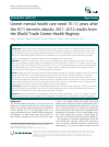 Scholarly article on topic 'Unmet mental health care need 10–11 years after the 9/11 terrorist attacks: 2011–2012 results from the World Trade Center Health Registry'