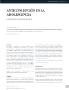 Scholarly article on topic 'Anticoncepción en la adolescencia'