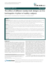 Scholarly article on topic 'The effect of different lumbar belt designs on the lumbopelvic rhythm in healthy subjects'
