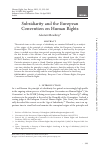 Scholarly article on topic 'Subsidiarity and the European Convention on Human Rights'