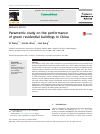 Scholarly article on topic 'Parametric study on the performance of green residential buildings in China'