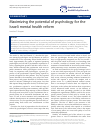 Scholarly article on topic 'Maximizing the potential of psychology for the Israeli mental health reform'