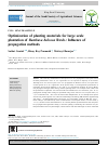 Scholarly article on topic 'Optimization of planting materials for large scale plantation of Bambusa balcooa Roxb.: Influence of propagation methods'