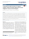 Scholarly article on topic 'Composition and structure of natural organic matter through advanced nuclear magnetic resonance techniques'