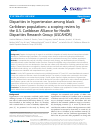 Scholarly article on topic 'Disparities in hypertension among black Caribbean populations: a scoping review by the U.S. Caribbean Alliance for Health Disparities Research Group (USCAHDR)'