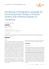 Scholarly article on topic 'Introducing a Pictographic Language for Envisioning a Rich Variety of Enactive Systems with Different Degrees of Complexity'