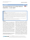 Scholarly article on topic 'Successful treatment of multiple bilateral impactions - a case report'