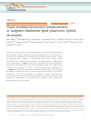 Scholarly article on topic 'Giant photoluminescence enhancement in tungsten-diselenide–gold plasmonic hybrid structures'