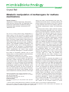 Scholarly article on topic 'Metabolic manipulation of methanogens for methane machinations'